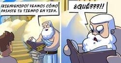 Enlace a Divertidos cómics sobre cómo se enfrentan los dioses a los problemas diarios