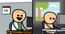 Enlace a Cómics de Cyanide & Happiness para quienes tienen un humor muy oscuro