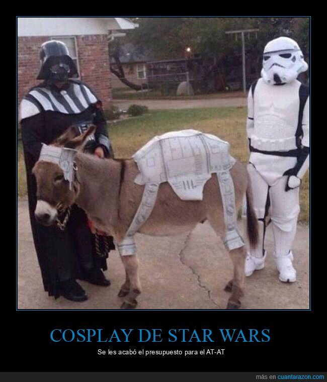 burro,disfraces,mierder,star wars