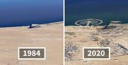 Enlace a Google Earth recopila imágenes de satélites para mostrar las tristes diferencias que los humanos hemos causado en el mundo