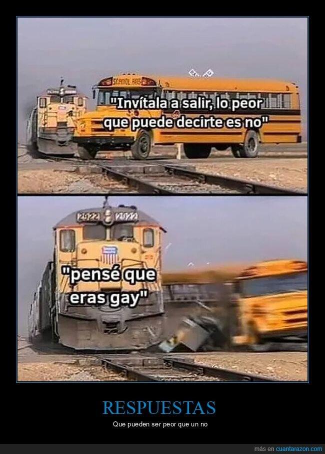autobús,gay,invitar a salir,no,peor,tren