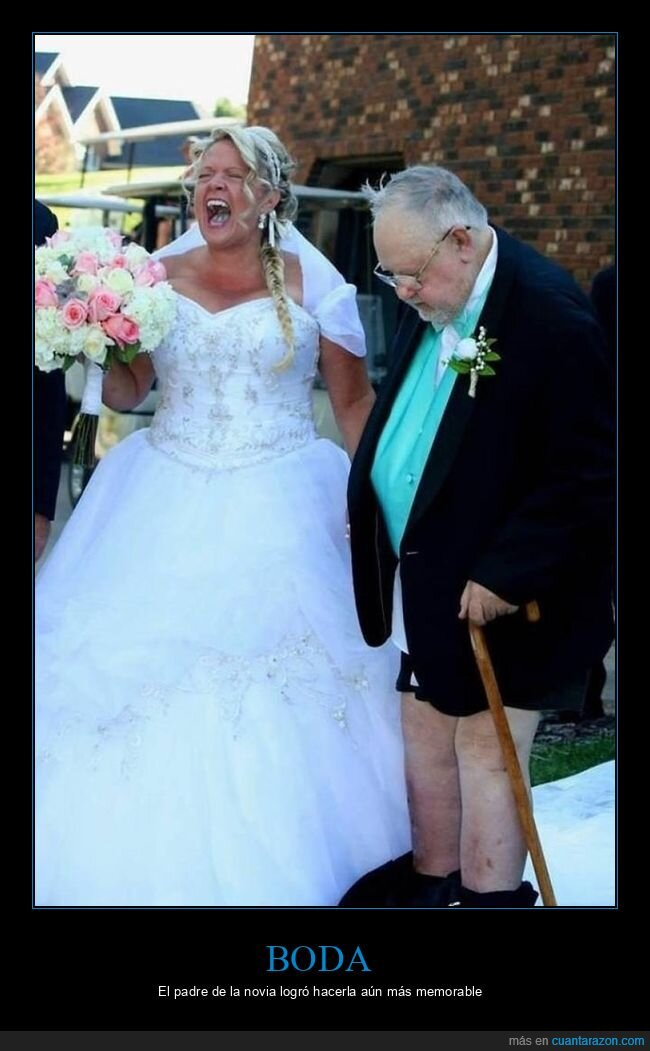 boda,fails,padre,pantalones