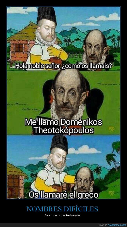 doménikos theotokópoulos,el greco,nombres,simpsons
