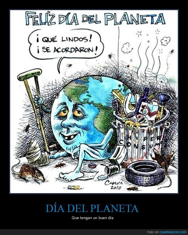 contaminación,día,planeta