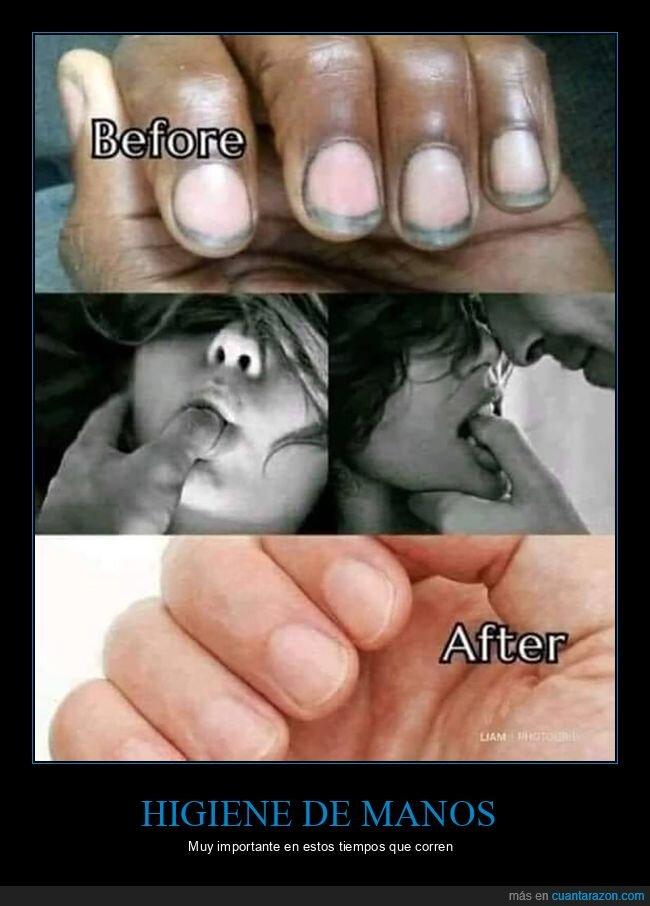 asco,uñas