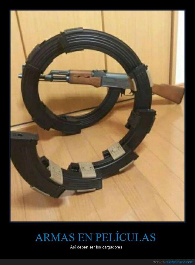 armas,cargadores,películas