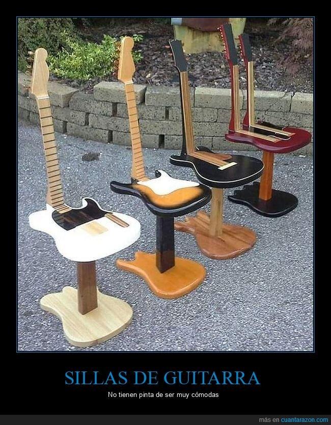 guitarras,sillas