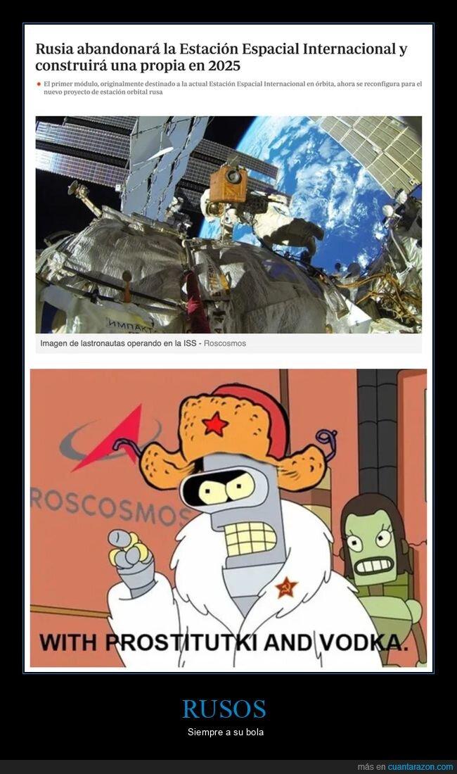 estación espacial internacional,rusos