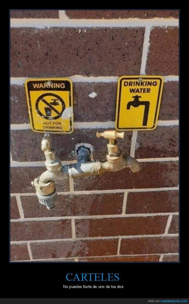 agua,beber,carteles