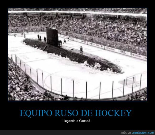 pista de hockey,submarino,wtf