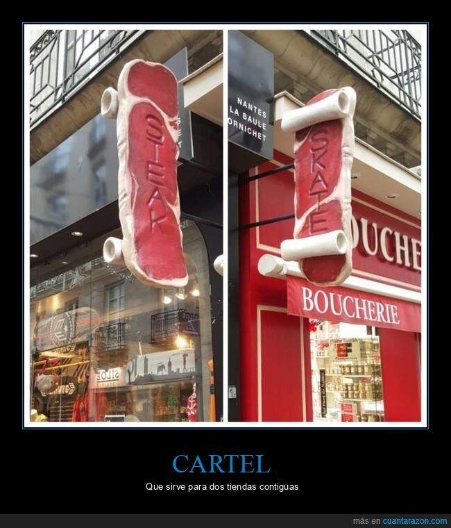 carnicería,cartel,skate,tiendas