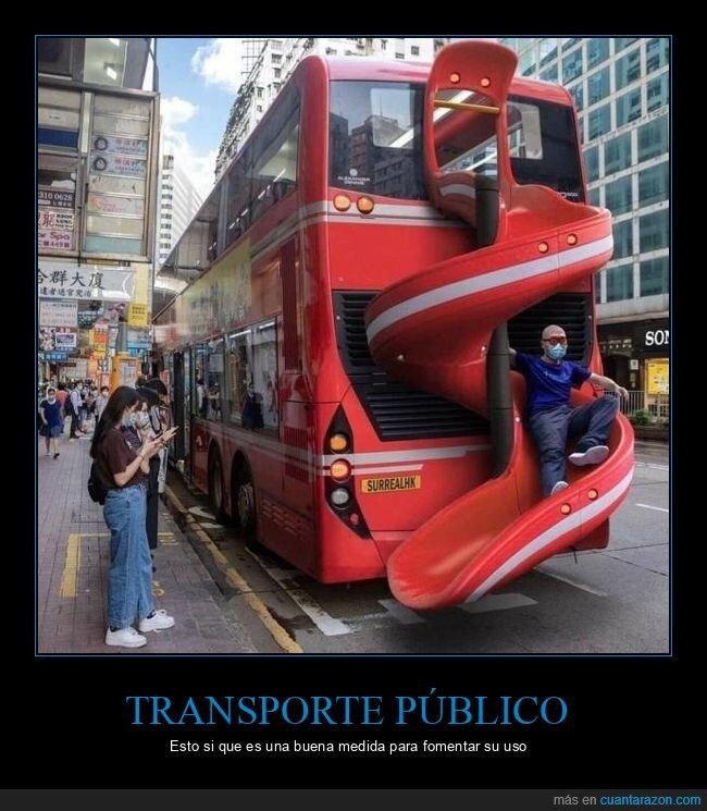 autobús,tobogán