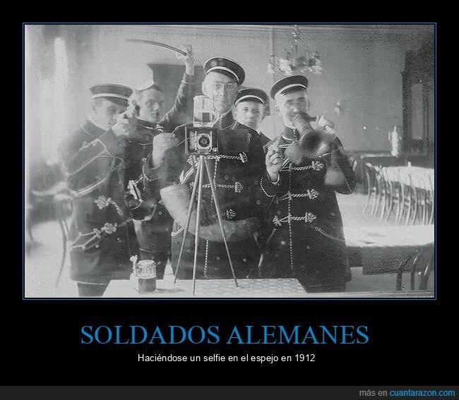 alemanes,espejo,selfie,soldados