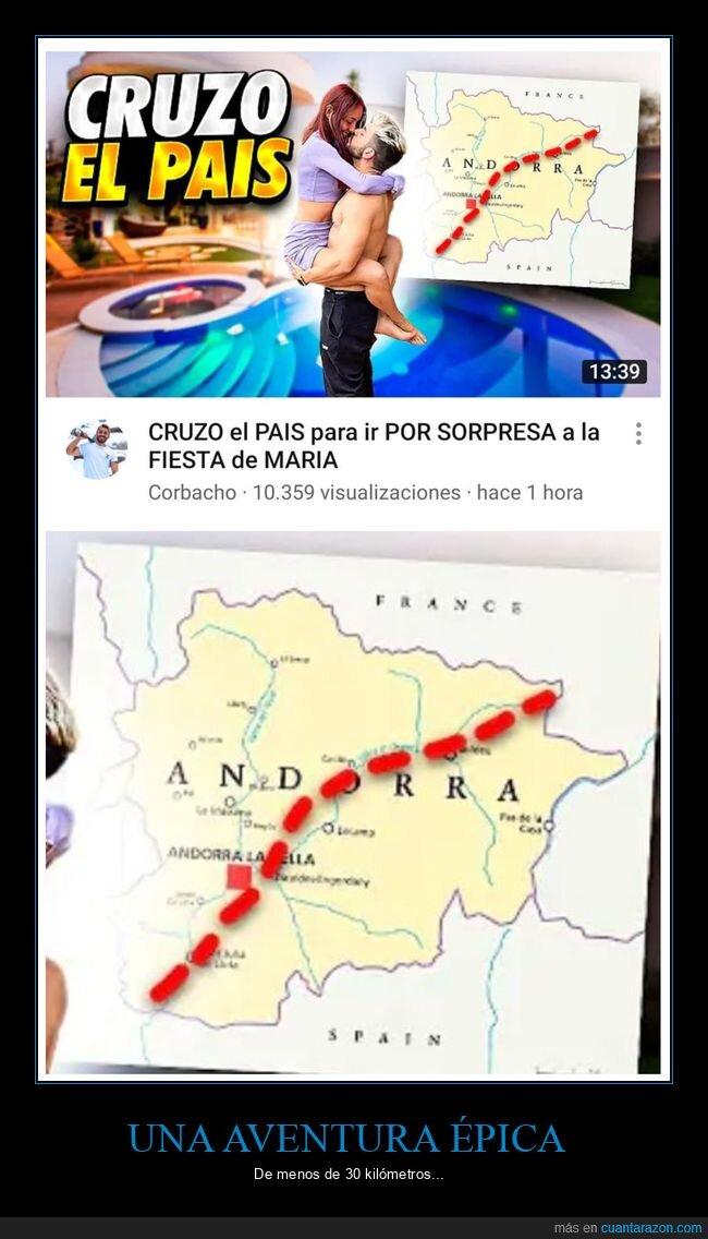 andorra,cruzar,país,wtf,youtubers