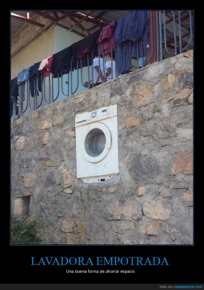 empotrada,lavadora,pared