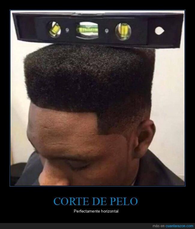 corte de pelo,horizontal
