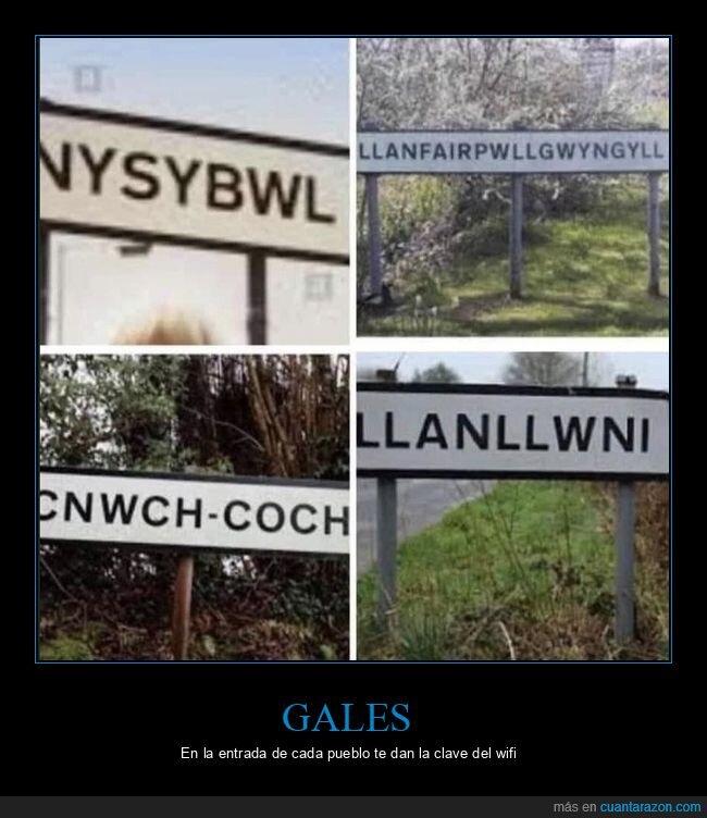 gales,nombres,pueblos
