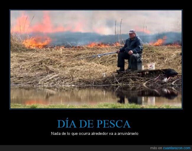 fuego,incendio,pescando