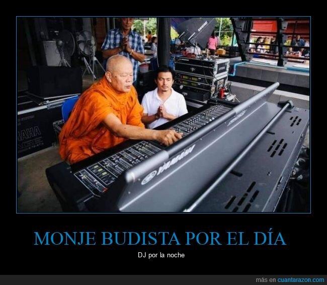 dj,monje budista