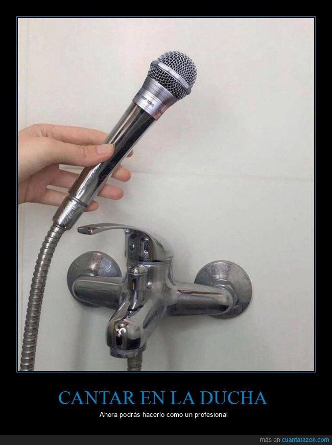 ducha,micrófono