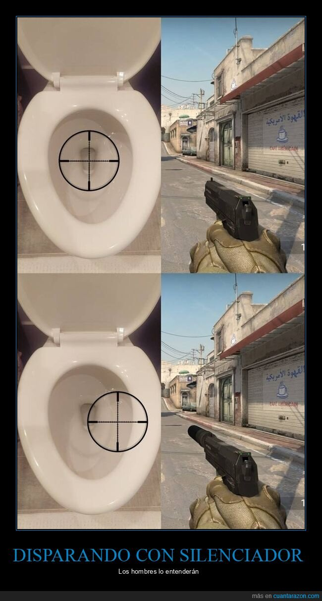 pistola,silenciador,váter
