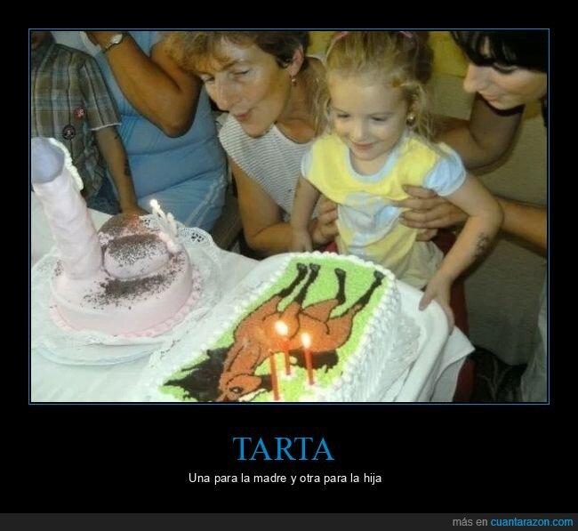 madre,niña,tarta,wtf