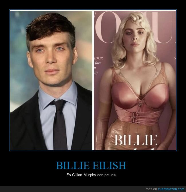 billie eilish,cillian murphy,parecidos