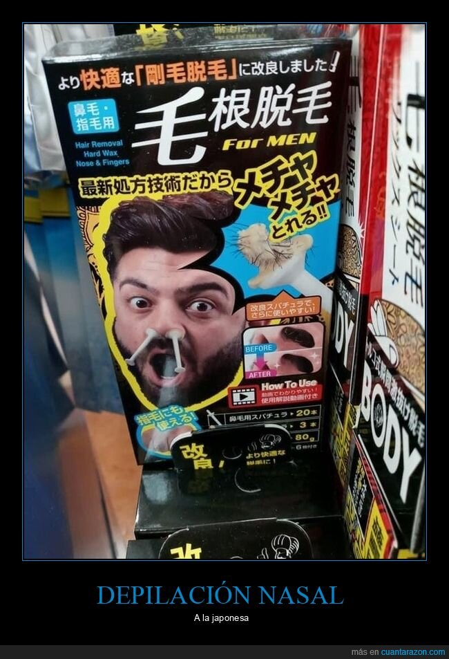depilación nasal,japón,wtf