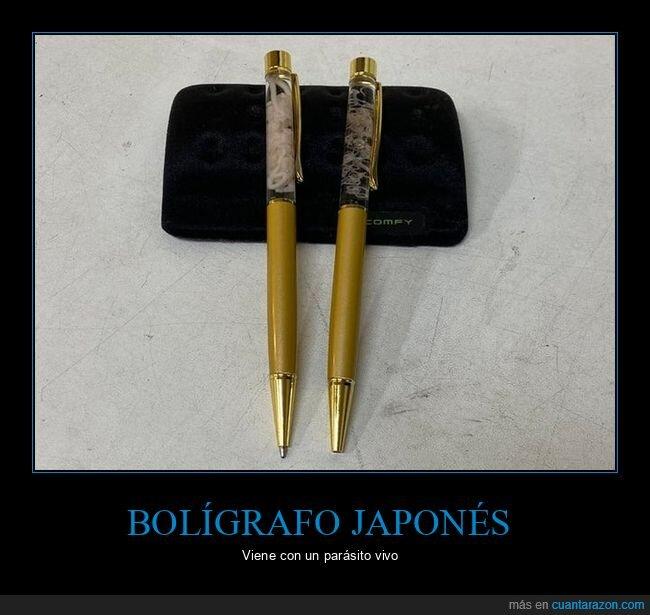 bolígrafo,japonés,parásito