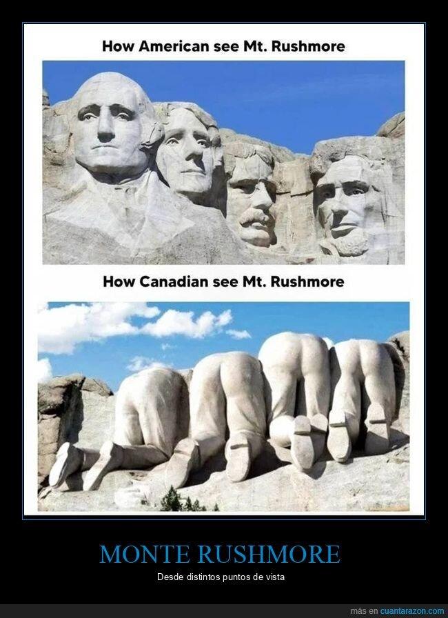 canadienses,monte rushmore