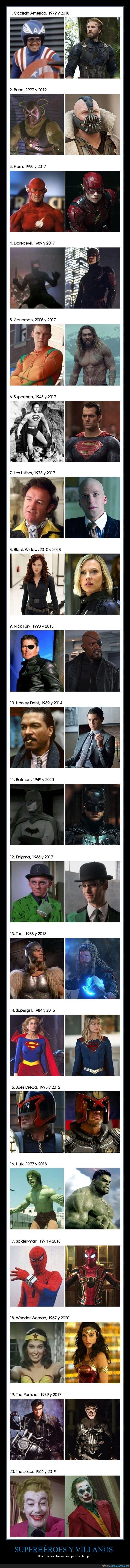 antes,después,superhéroes,villanos