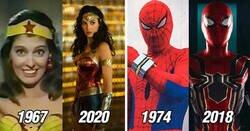 Enlace a Superhéroes y villanos antes y después y cómo han cambiado con el paso del tiempo