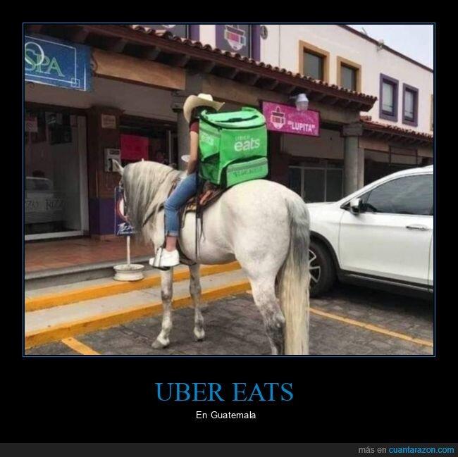caballo,guatemala,uber eats