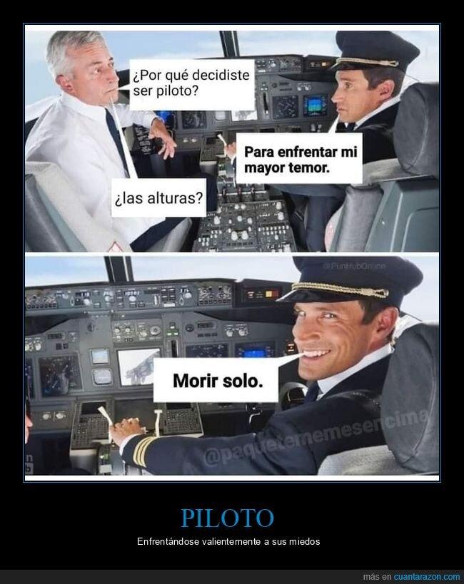 morir solo,piloto,temor