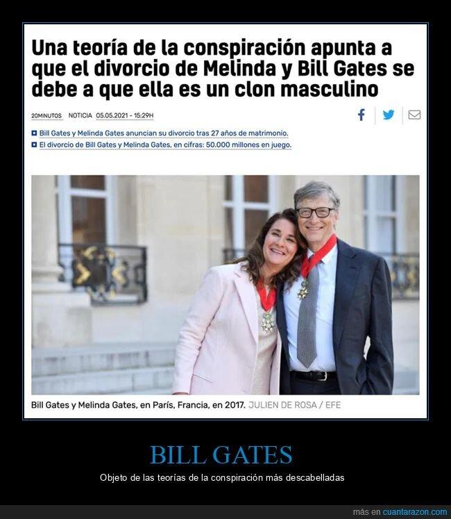 bill gates,clon,conspiranoicos,divorcio,melinda gates
