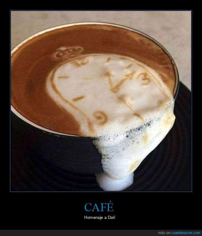 café,dalí,reloj