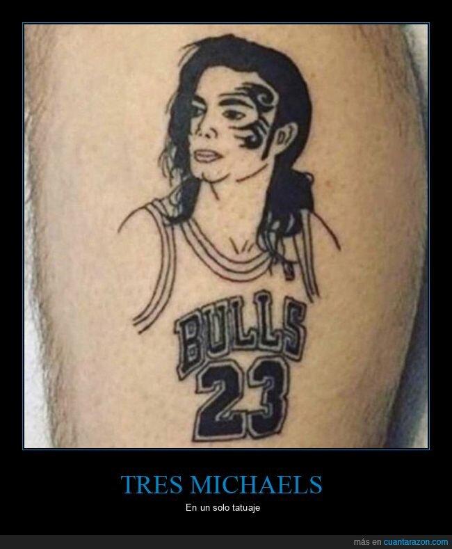 michael jackson,michael jordan,mike tyson,tatuaje