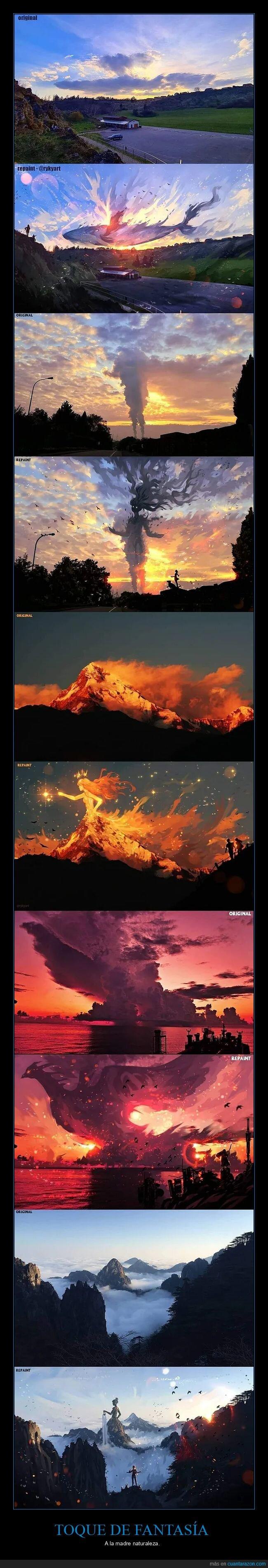 fantasía,naturaleza,photoshop