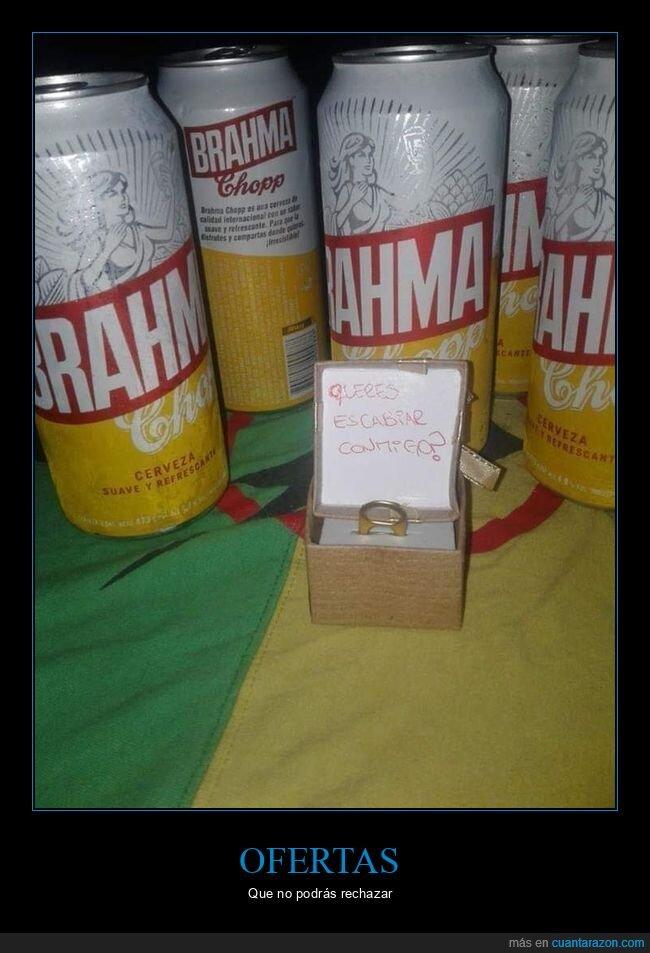 anilla,cerveza,proposición