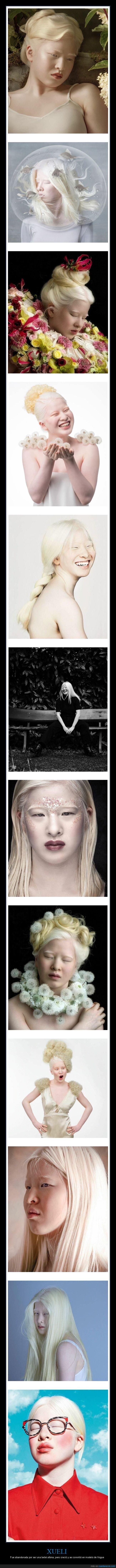 abandonada,albina,modelo,xueli