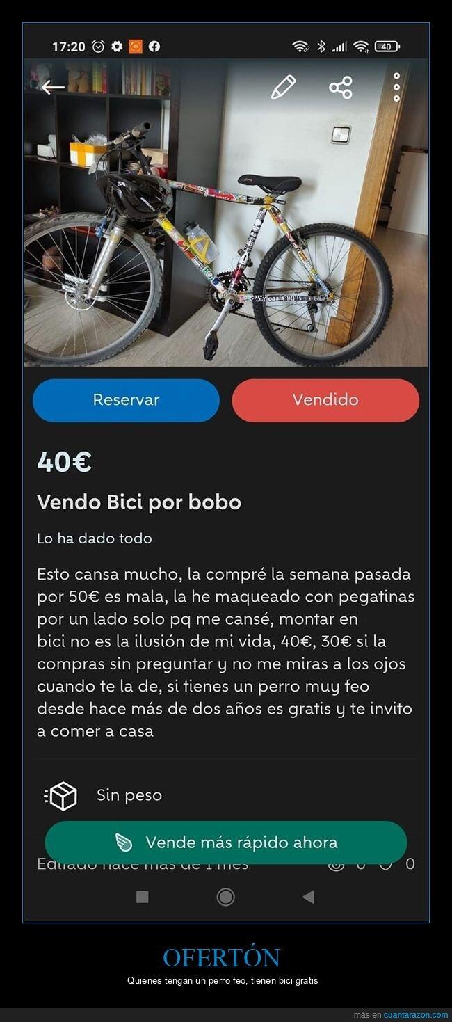 anuncios,bicicleta