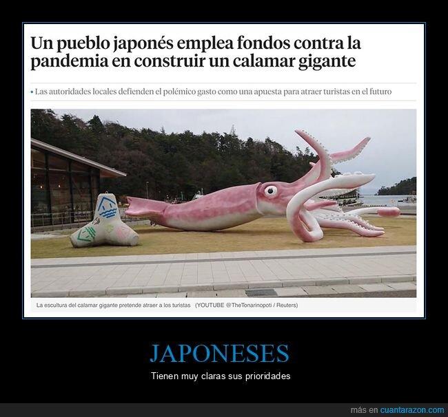 calamar,escultura,japos,wtf