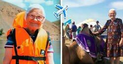 Enlace a Abuela de 91 años cumplió su sueño de viajar por todo el mundo y recorrió 21 ciudades