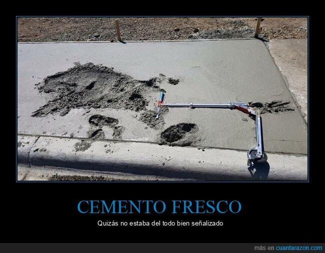 cemento,fails,patinete