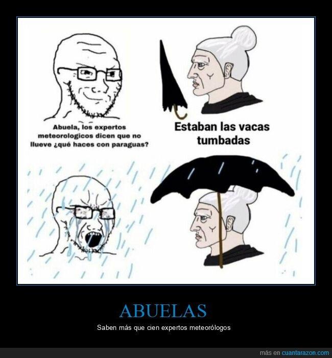 abuela,llover,paraguas
