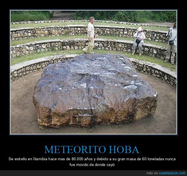 curiosidades,meteorito hoba,tamaño
