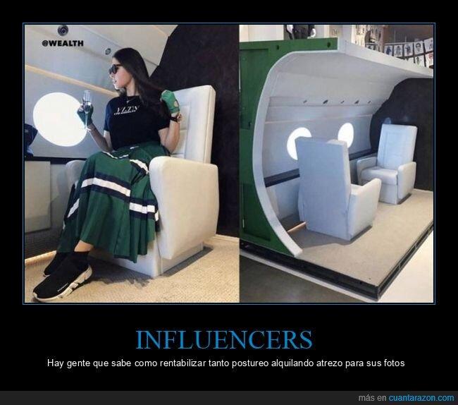 avión,influencers,wtf