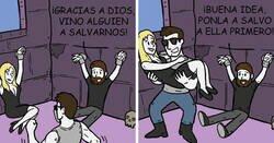 Enlace a Divertidos cómics creados por StrangeTrek, para quienes disfrutan del terror y la cultura pop