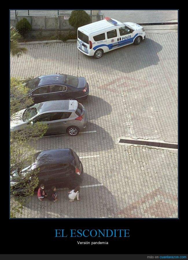 escondite,policía