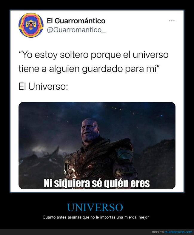 soltero,thanos,universo
